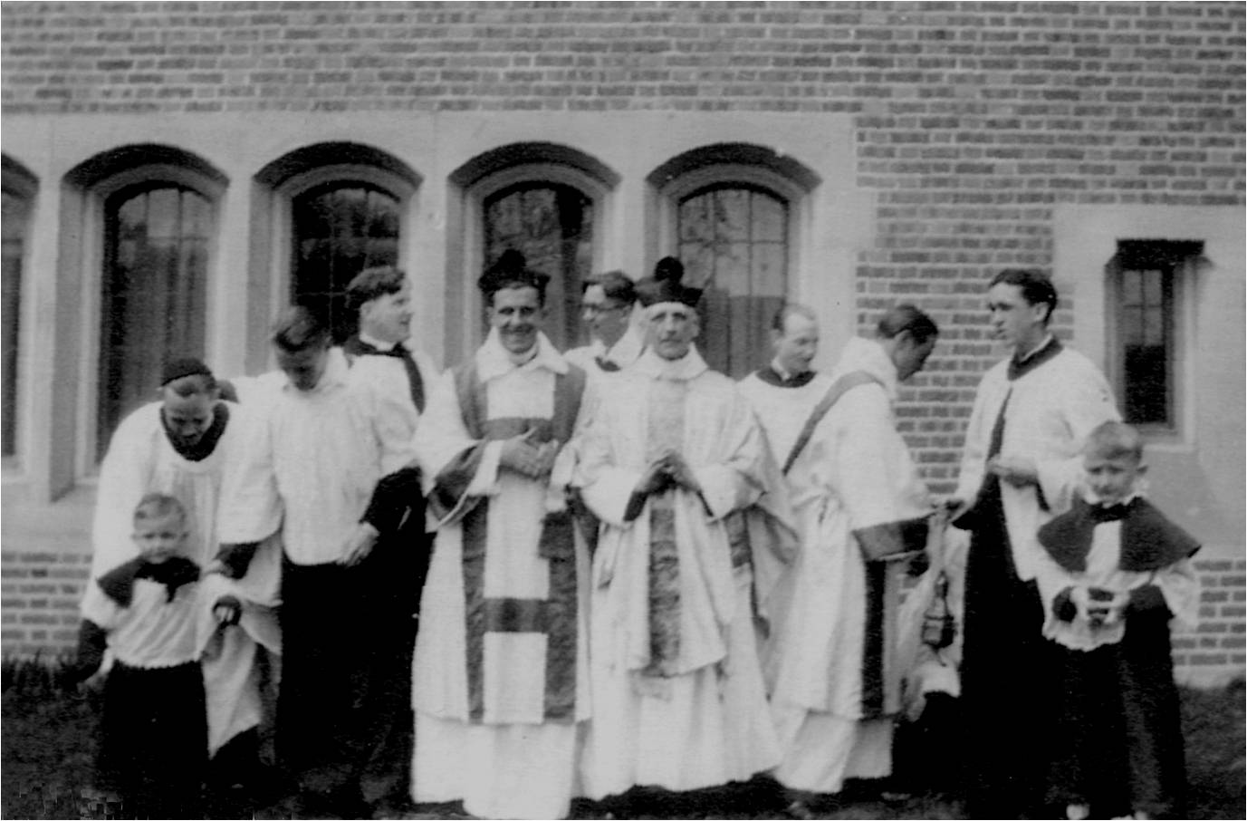 St. Andrew's longest-serving rector Rev. Neil Stanley (1920-1942) is pictured talking to someone in the back row. Associate priests in the front row appear to be Rev. John Hudston (1924-1937) on the right and either Rev. Ralph Rohr (1927-1929) or Rev. W.L. Hogg (1926-1932) on the left.